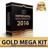 Mega Kit Imprimible Empresarial Gold + Tarjetas Recuerditos