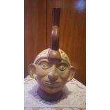 Yh Antiguo Huaco Cabeza Incaico Replica Remato Cambio Año 80