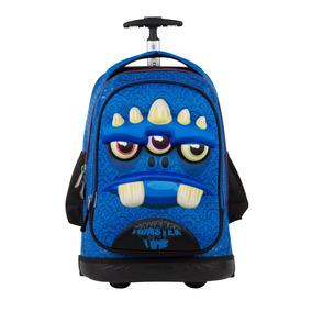 Mochila Escolar Ruedas Monster Time Chenson Mod Co61429