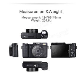 Amkov R2 3-inch 24mp 1080p Digital Camera, 4x Zoom - W/ Extr