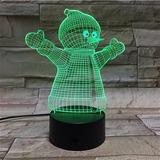 Lámpara Decorativa Con Luz Led, Muñeco De Nieve, Navidad