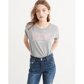 Camiseta Feminina Abercrombie   Fitch Original Frete Grátis 5569b0aeb8437