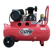 Compresor De Banda Con 1 Hp Y 50 L Goni Gon9305