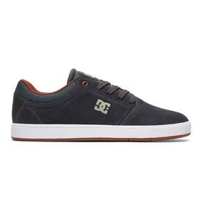 Tenis Hombre Crisis Tx Adys100029 Grw Dc Shoes Gris Gamuza