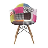 Silla Hood Patch Con Brazos. Eames Kartell Madera