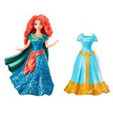 Disney Magiclip Merida Valiente Muñeca + 2 Vestidos Mattel