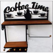 Prateleira Rustica De Ferro Café