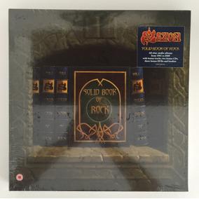 11 Cds + 3 Dvds Box Set - Saxon Solid Book Of Rock Lacrado!!