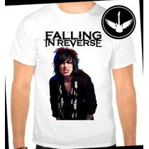 Camiseta Falling In Reverse Ronnie Baby Look Regata Banda