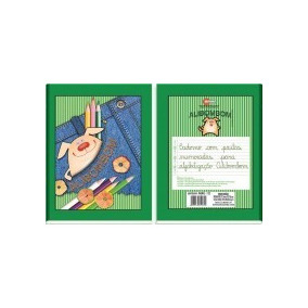 Caderno Brochurao Alibombom 80fls (verde) Pacote C/ 10