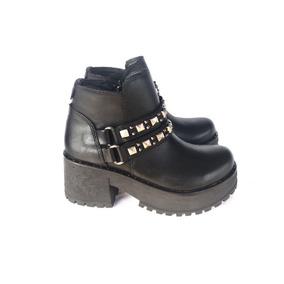 Botas Botitas Cortas Mujer Invierno 18 Zapatos Moda Tachas