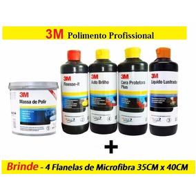 Kit Polimento Profissional 3m + 4 Flanelas De Microfibra