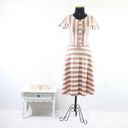 Vestido Venetia Listras Rodada Midi Moda Evangélica