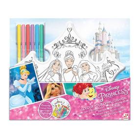 Decora Y Colorea Tu Cojín Princesas Disney
