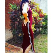 Vestido Elegance Stripes Lobo Branco Vip Vinho
