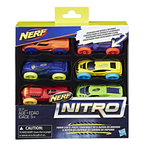 Nerf Nitro Set De 6 Carros De Foamy Versión 1 Original