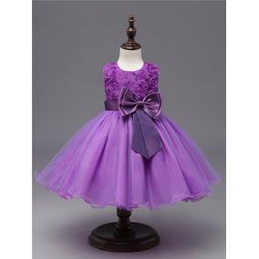 Vestido Princesas/daminha/aniversario Tam 01 Ao 10 Anos