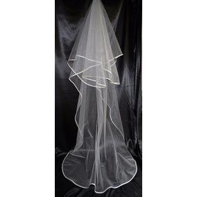 Velo Novia 3m Orilla Elegante Mantilla Color Ivory