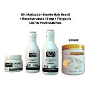 Matizador Blonde Kit Profissional + Brinde Reconstrutora
