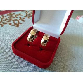 Aliança De Casamento Tungstenio+brinde Banhada Ouro 18k 8mm
