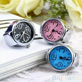 Relógio Feminino Anel De Dedo Quartz Várias Cores