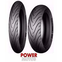 Par Pneu Michelin 110/80-14 + 60/100-17 Pilot Street Biz