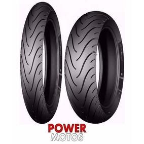 Par Pneu Michelin 80/100-14 + 60/100-17 Pilot Street Biz
