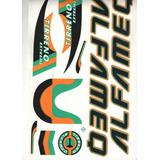 Adesivo Para Bicicleta Mtb Alfamaq Tirreno Verde Laranja