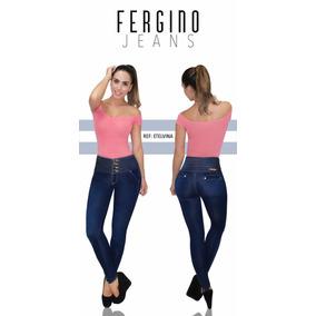Fergino Jeans Pantalon De Mezclilla Strech Azul