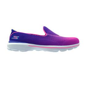 Zapatilla Deportiva Para Niña Skechers Go Walk 3 Purple Pin