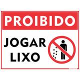 Placa Sinalização Proibido Jogar Lixo Em Alumínio 30x20cm