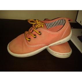 Zapatos Oshkosh Para Niños Varones Talla 27 Usados-naranja