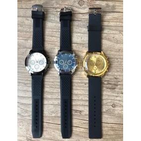 Kit Com 3 Relógios Importados Masculino Pulseira Silicone