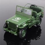 Escala 1:18 Modelo De Jeeps Militares Tácticos Ii Guerra M