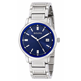 Reloj Caballero Bulova Highbridge Acero Inoxidable Azul