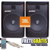 Kit Caixa Ativa + Passiva Datrel 12 Jbl 500w Blue + Usb