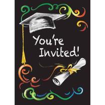 Invitaciones De La Graduación De La Pizarra De 8-count