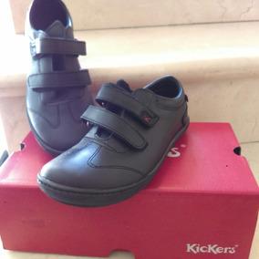 Zapatos Kickers Escolares Niño Talla 36 Color Negro