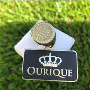 Anel  Personalizado Ouro 18k 750 Com Diamantes Luxo