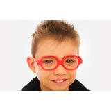 Óculos Infantil Miraflex Vermellho Flexível Maxi 2 - 5 Anos