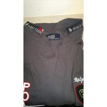 Camisa Playera Tipo Polo, Color Gris Polo Ralph Lauren