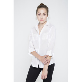 Camisa Blanca Manga Tres Cuartos Yagmour