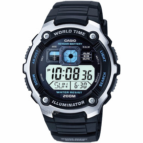 Reloj Casio Digital World Time Water Resist 200m Illuminator