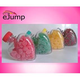 Envase Golosinero Corazón Tapa Color Souvenir Cumples Candy