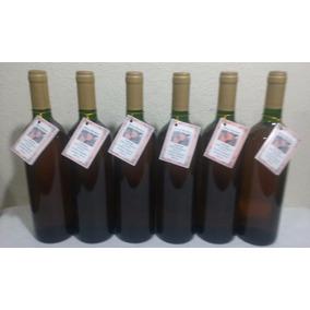 Kit 06 Garrafas Vinho Artesanal De Laranja 750ml