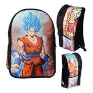 Dragon Ball Super Mochila Backpack Goku Sayayin Dios Blue
