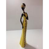 Africana Mulher Negra Boneca Estátua Escultura