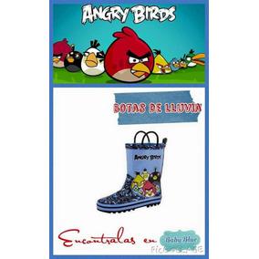 Bota De Lluvia Nene Angry Birds