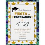Invitación De Egresados Graduación Primaria O Secundaria
