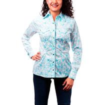 Blusa Dama Majo West Azul/blanco Algodón Bi-454
